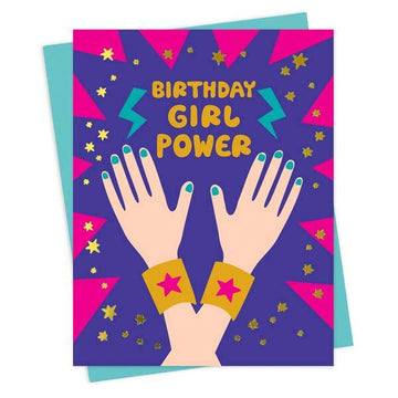 Girl Power Birthday Card-Greeting Cards-Miss Rosie Co.