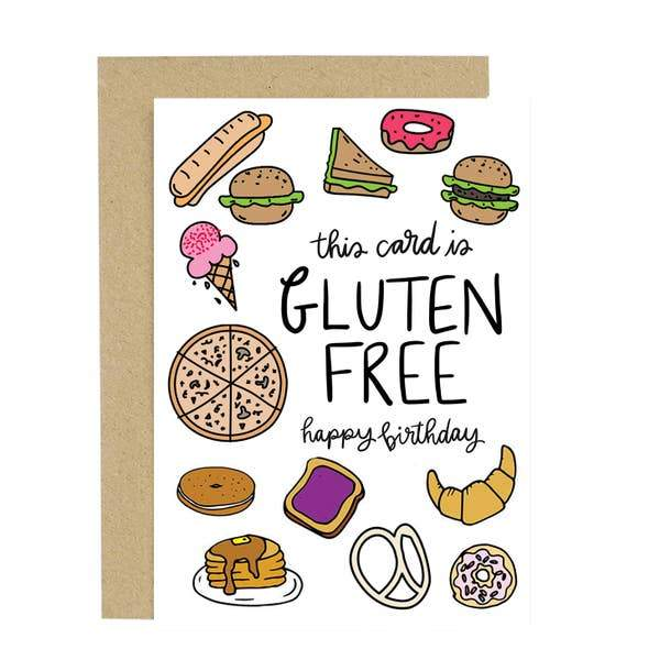 Gluten Free Birthday Card-Greeting Cards-Miss Rosie Co.