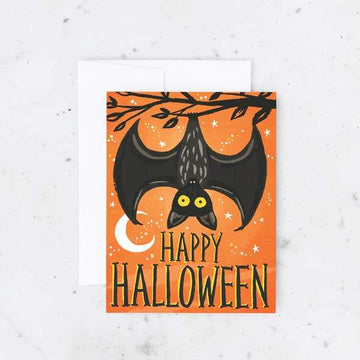 Halloween Bat Card-Greeting Cards-Miss Rosie Co.