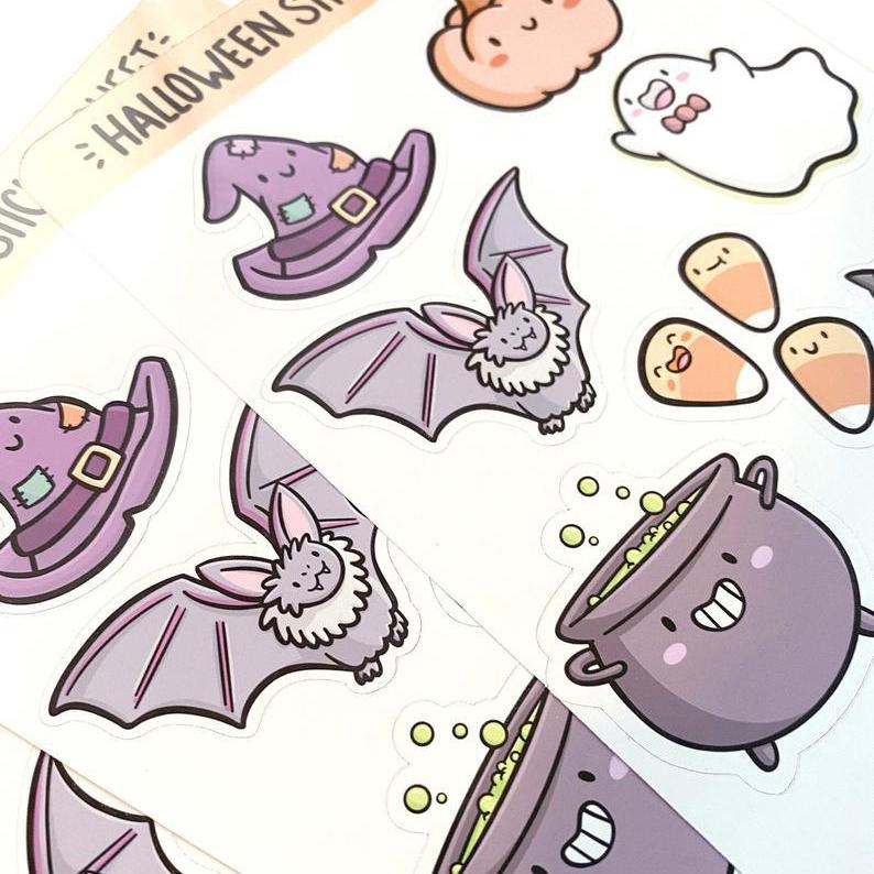 Halloween Sticker Sheet-Stickers-Miss Rosie Co.