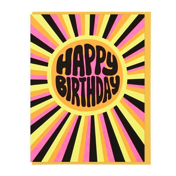 Happy Birthday Sunburst Card-Greeting Cards-Miss Rosie Co.