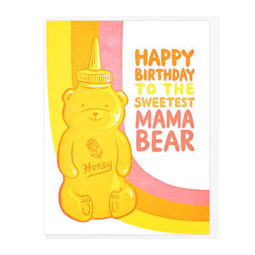 Happy Birthday Sweetest Mama Bear Card-Greeting Cards-Miss Rosie Co.
