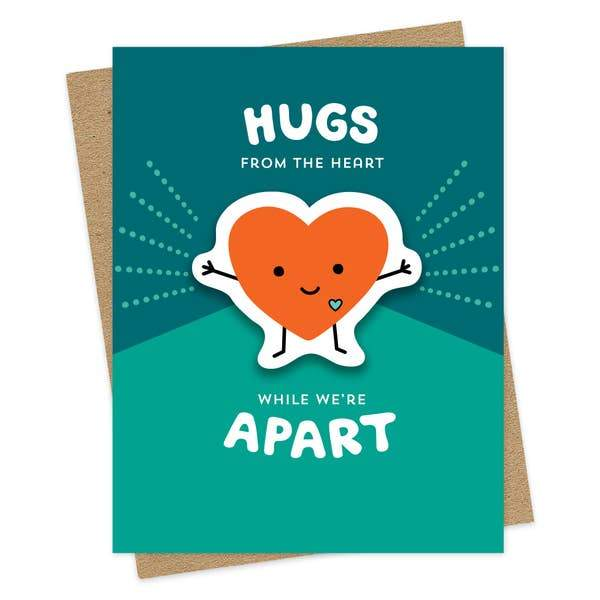 Heart Hugs Card-Greeting Cards-Miss Rosie Co.