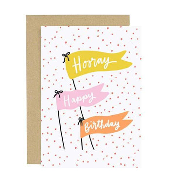 Hooray Birthday Card-Greeting Cards-Miss Rosie Co.