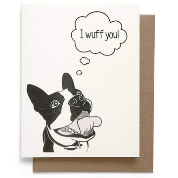 I Wuff You Love Card-Greeting Cards-Miss Rosie Co.