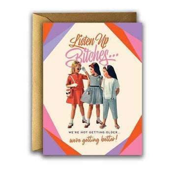 Listen Up Birthday Card-Greeting Cards-Miss Rosie Co.