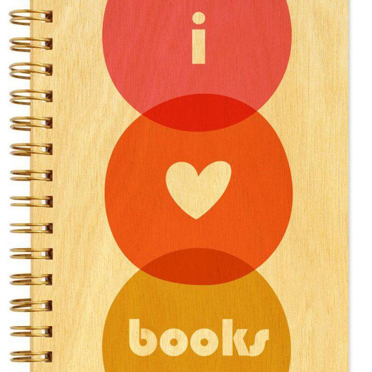 Love Books Wood Notebook-Notebooks-Miss Rosie Co.