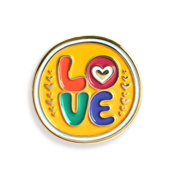 Love Enamel Pin-Enamel Pins-Miss Rosie Co.