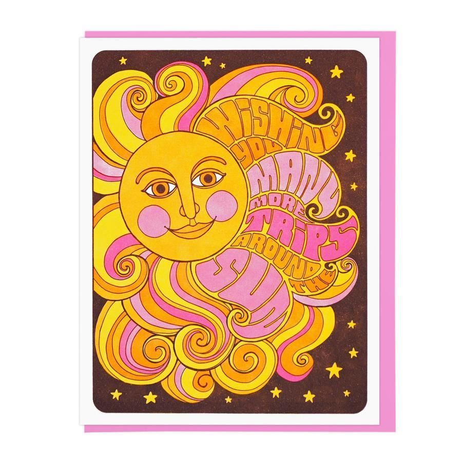 Many More Trips Around the Sun Birthday Card-Greeting Cards-Miss Rosie Co.