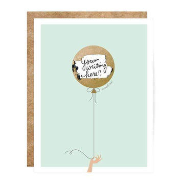 Mint & Gold Balloon Scratch-Off Card-Greeting Cards-Miss Rosie Co.
