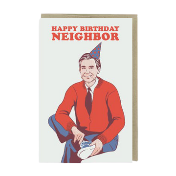 Mr. Rogers Happy Birthday Neighbor Card-Greeting Cards-Miss Rosie Co.