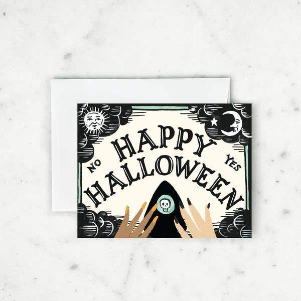 Ouija Halloween Card-Greeting Cards-Miss Rosie Co.
