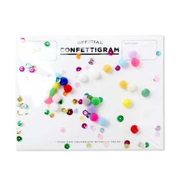 Pom Poms Confettigram-Greeting Cards-Miss Rosie Co.