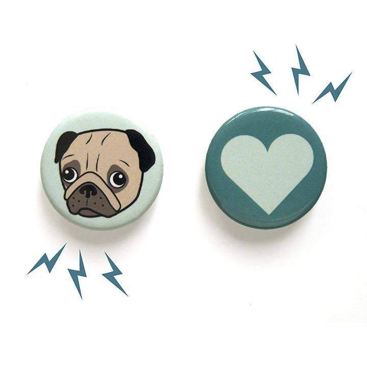 Pug & Heart Magnet Set-Magnets-Miss Rosie Co.