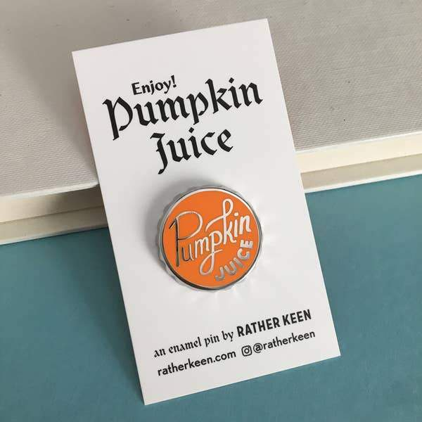 Pumpkin Juice Enamel Pin-Enamel Pins-Miss Rosie Co.
