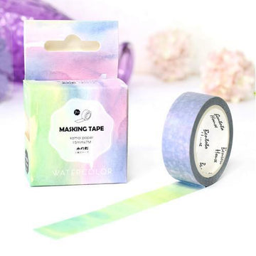 Rainbow Watercolors Washi Tape-Washi Tape-Miss Rosie Co.
