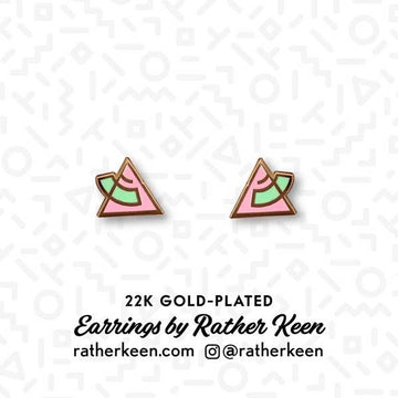 Retro 80's Triangle Earrings