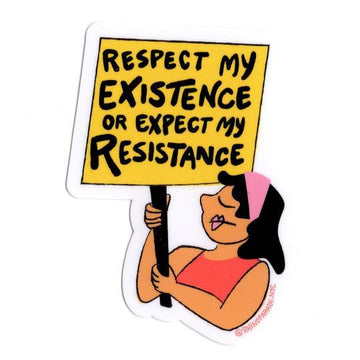 Respect My Existence Sticker-Stickers-Miss Rosie Co.