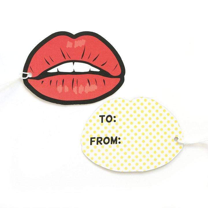 Rocky Horror Red Lips Gift Tags-Gift Tag-Miss Rosie Co.