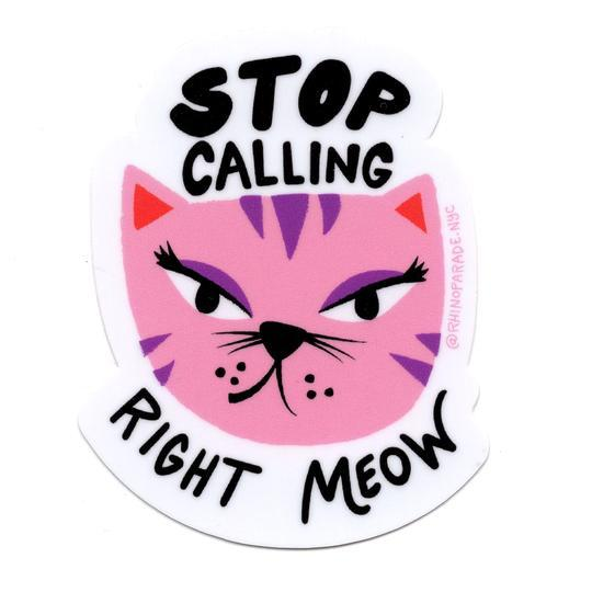 Stop Catcalling Sticker-Stickers-Miss Rosie Co.