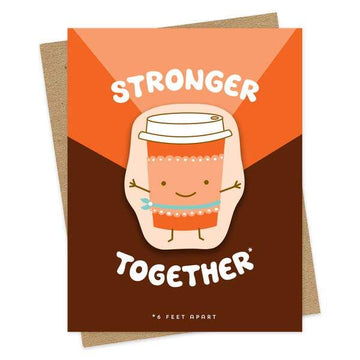 Strong Coffee Card-Greeting Cards-Miss Rosie Co.