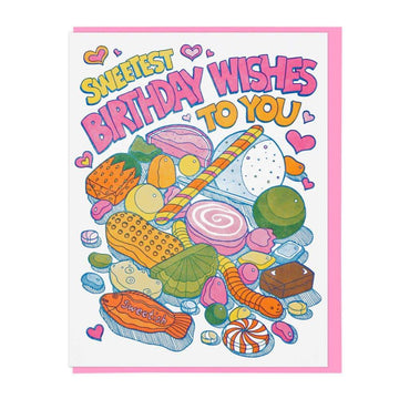 Sweetest Birthday Wishes Candy Card-Greeting Cards-Miss Rosie Co.