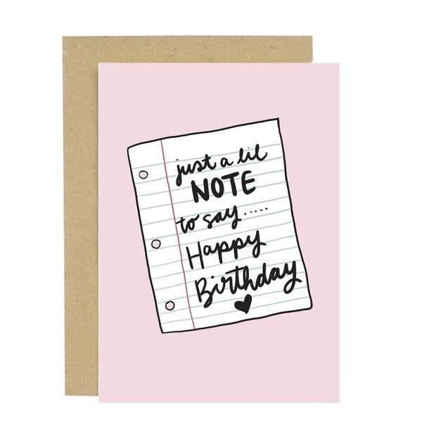 Take Note Birthday Card-Greeting Cards-Miss Rosie Co.