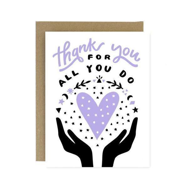 Thank You For All You Do Card-Greeting Cards-Miss Rosie Co.