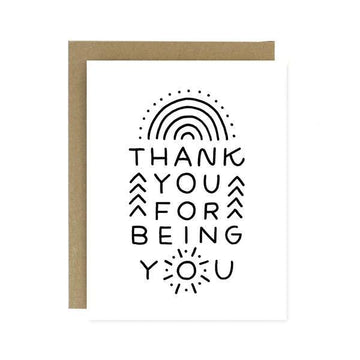 Thank You For Being You Card-Greeting Cards-Miss Rosie Co.