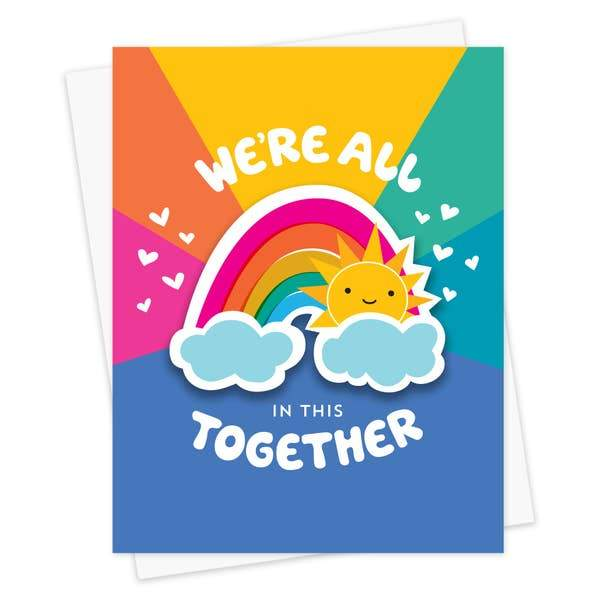 Together Rainbow Card-Greeting Cards-Miss Rosie Co.