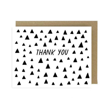 Triangles Thank You Card-Greeting Cards-Miss Rosie Co.