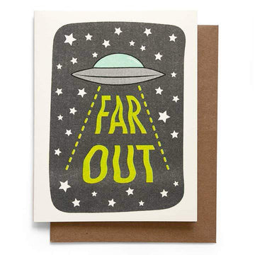 UFO Far Out Greeting Card-Greeting Cards-Miss Rosie Co.
