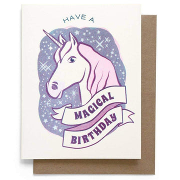 Unicorn Birthday Card-Greeting Cards-Miss Rosie Co.