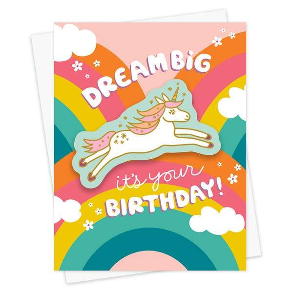 Unicorn Dream Birthday Card-Greeting Cards-Miss Rosie Co.
