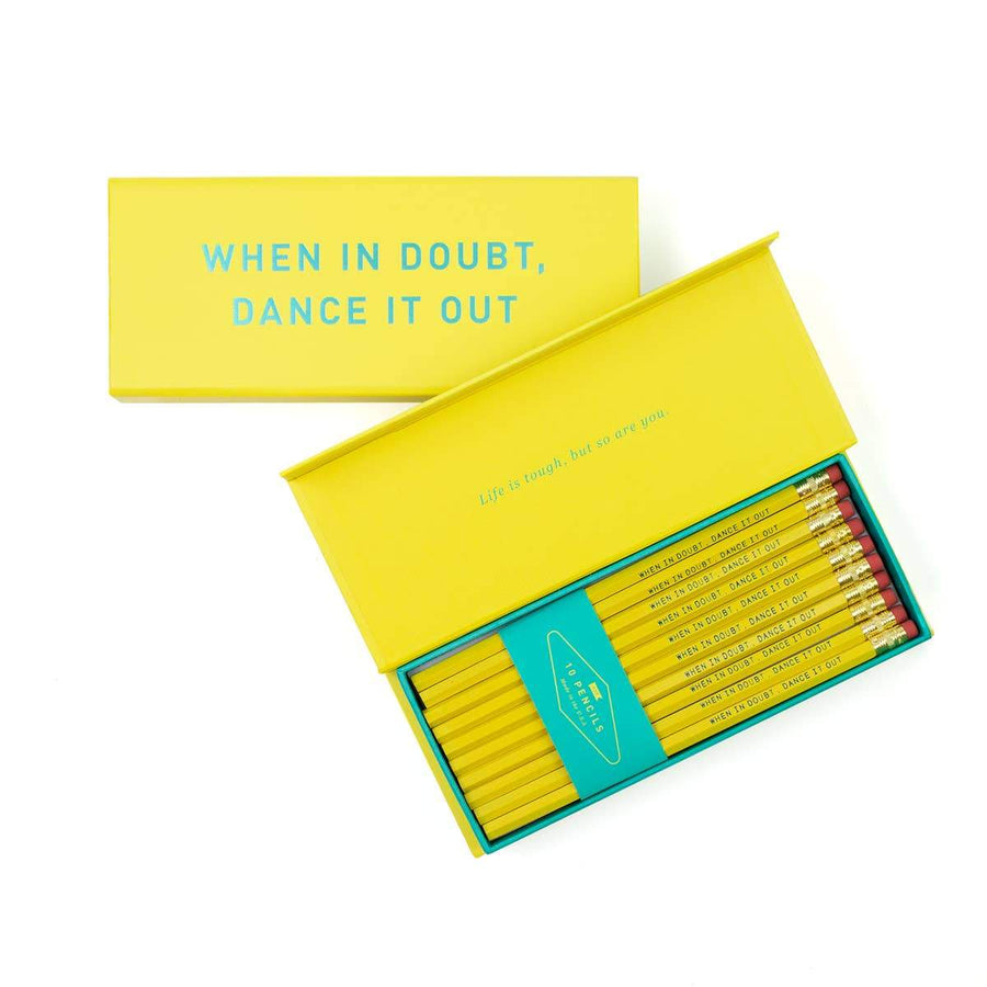 When In Doubt, Dance It Out Pencil Box-Pencils-Miss Rosie Co.