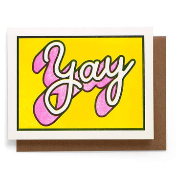 YAY Greeting Card-Greeting Cards-Miss Rosie Co.