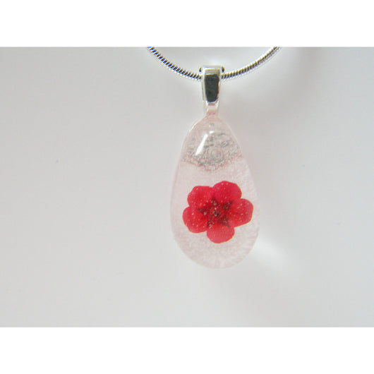 Poppy Necklace, Flower Necklace, Real Flower Jewellery, Flower Jewelry, Resin Pendant