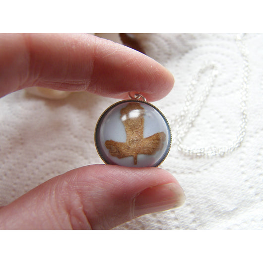 Leaf Necklace, Autumn Necklace, Real Leaf Pendant, Fall Jewelry, Resin Necklace