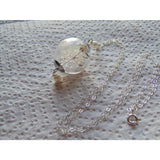 Dandelion Seed Necklace, Glass Orb, Handblown, Bridesmaids Gifts, Make a Wish, Wishes on the Wind