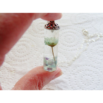 Daisy Necklace, Real Flower Jewllery, Eco Friendly, Real Flower Pendant, Gift for Her, Resin Jewelry, Girlfriend, Wife, Mother