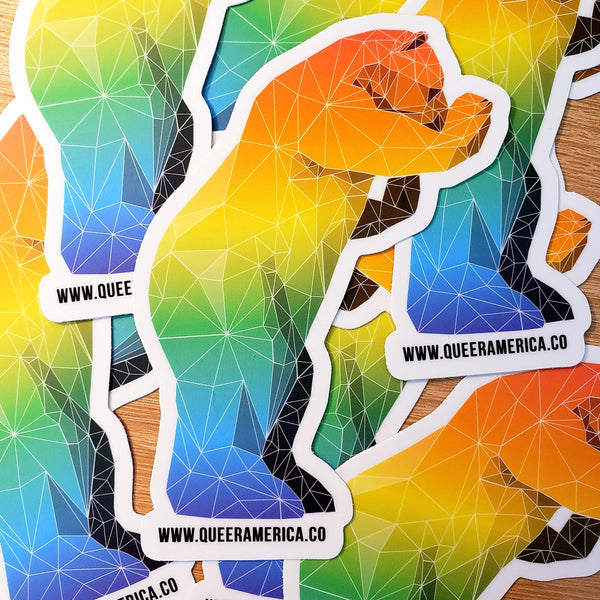 "Denver Big Blue Bear Sticker (5"") - Queer America Clothing"