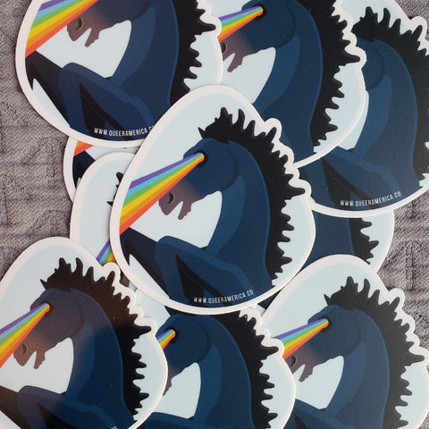 "Denver Blucifer Pride Eyes Sticker (3"") - Queer America"