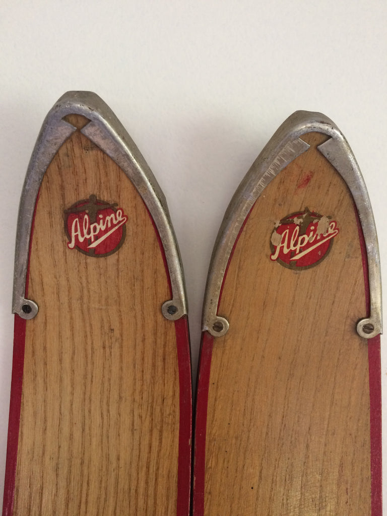 1950's Antique Wooden Snowskis, MINT! For Sale, Unmounted
