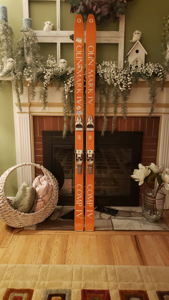 Vintage OLIN MARK IV COMP IV Snow Skis, Old School Twin Tip, 180cm, Salomon S444 - LongSkisTruck