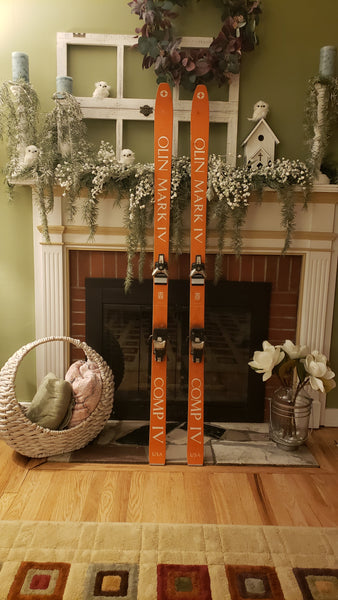 Vintage OLIN MARK IV COMP IV Snow Skis, Old School Twin Tip, 175cm, Salomon S626 - LongSkisTruck