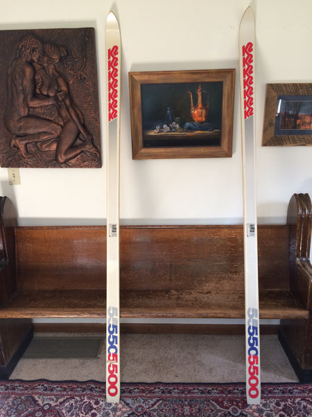 Vintage K2 5500 Snow Skis New Never Drilled, 1985-86-87? For Sale: - LongSkisTruck