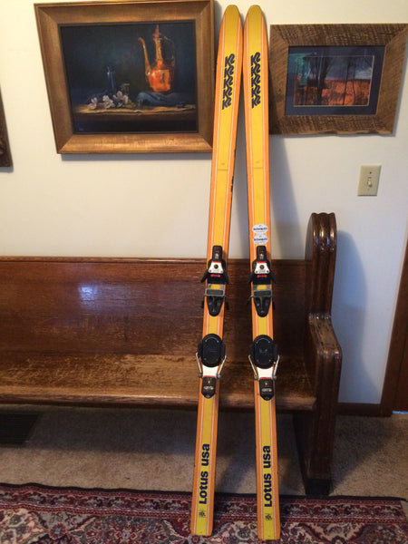 Vintage K2 USA 'LOTUS' Snow Skis For Sale w/ Look 99 Bindings 160cm - LongSkisTruck