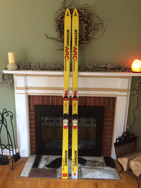 "Vintage Snow Skis For Sale; Atomic ARC Team Bionic RS ""Yellow Sleds"" 210cm S747 - LongSkisTruck"