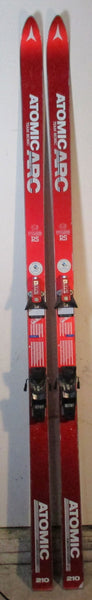 "Vintage Atomic ""Red Sleds"" Snow Skis For Sale ARC Team RS 210cm with Salomon 737 - LongSkisTruck"
