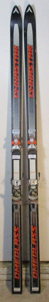 Used Dynastar Omeglass Competition 200cm Snow Ski with Salomon S-555 (Rare Orange) Bindings For Sale - LongSkisTruck